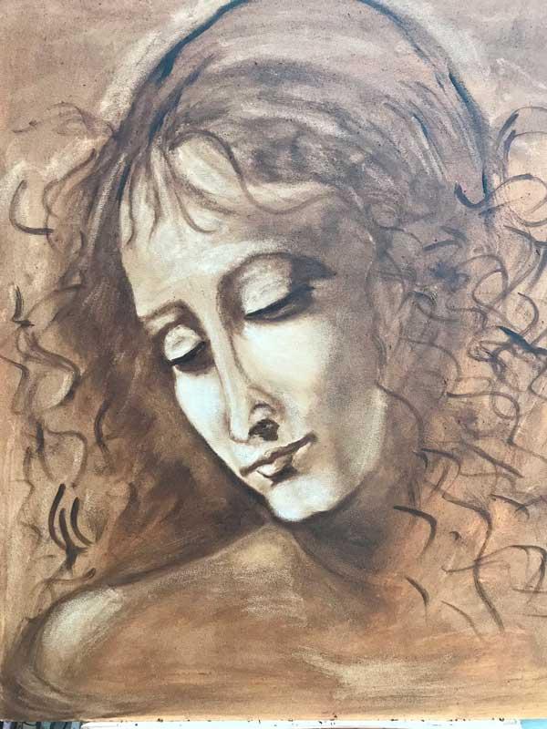 Portrait of a Girl - after Leonardo Da Vinci
