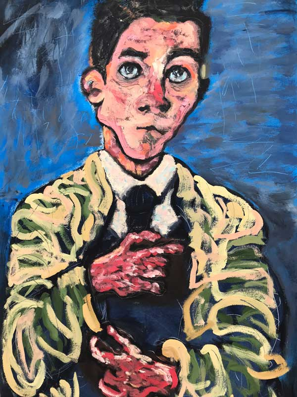 study after a self-portrait by Oskar Kokoschka