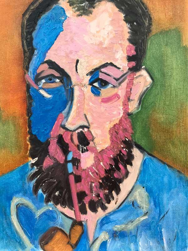 study of Andre Derain's portrait of Matisse