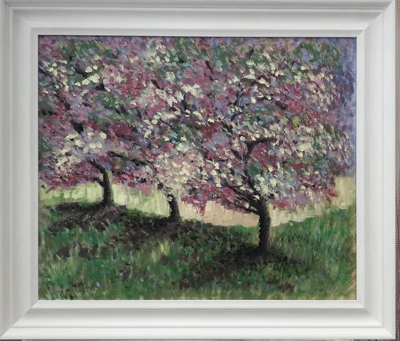 Apple Trees after Monet