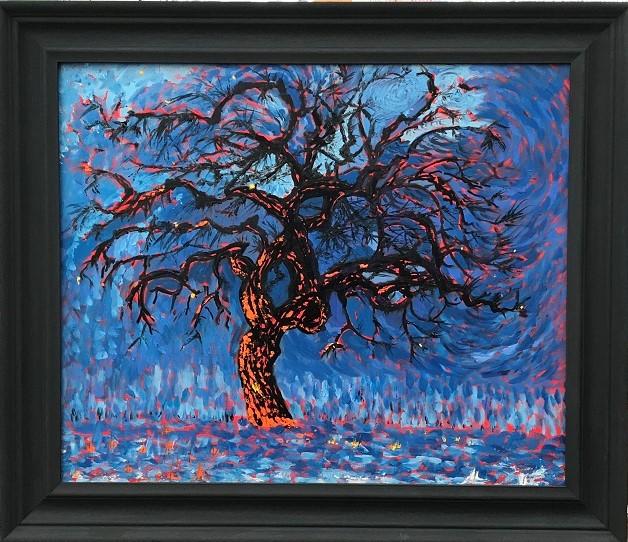 Fire Tree after Piet Mondrian