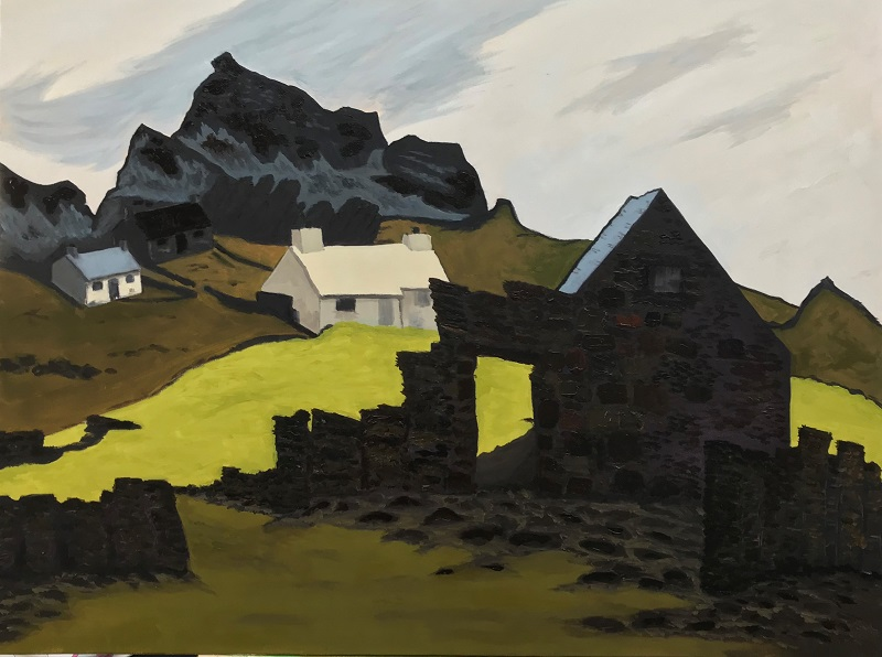 Study of a ruined Welsh Cottage after Kyffin Williams, OBE, RA