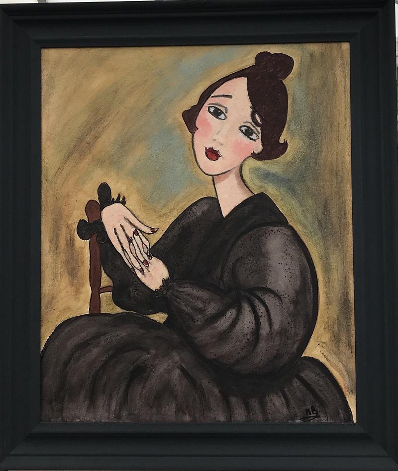 Study of Madam Diede after Amedeo Modigliani