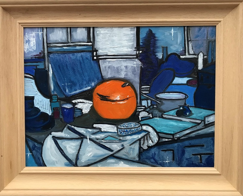 Study of an Orange Ginger Jar after Piet Mondrian