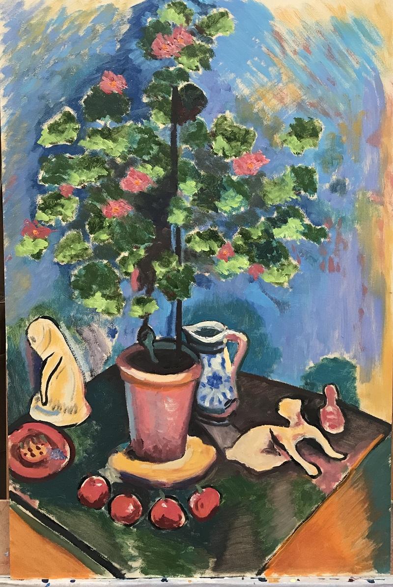Study after Henri Matisse Still Life with Geraniums