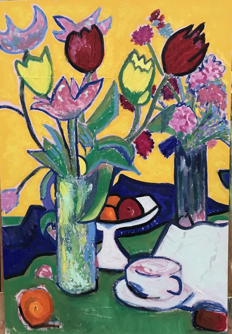 Tulips - a study after Samuel John Peploe