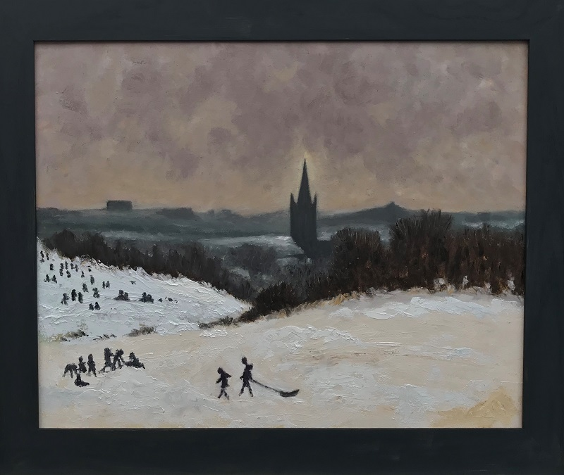 View of Norwich over Mousehold Health after Edward Seago