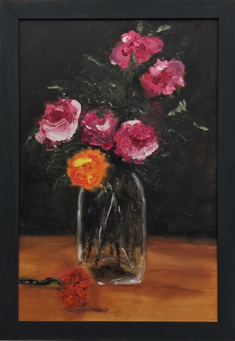 Flowers in a Vase, inspired by Manet