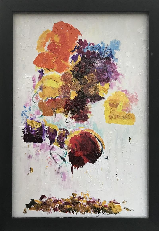 Fallen Flowers, after Joan Mitchell