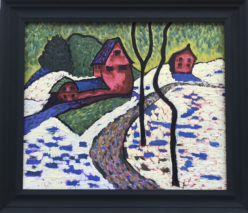 It's Cold Outside - Expressionist Study after Munter