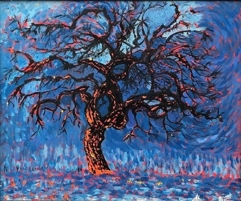 Fire Tree after Mondrian