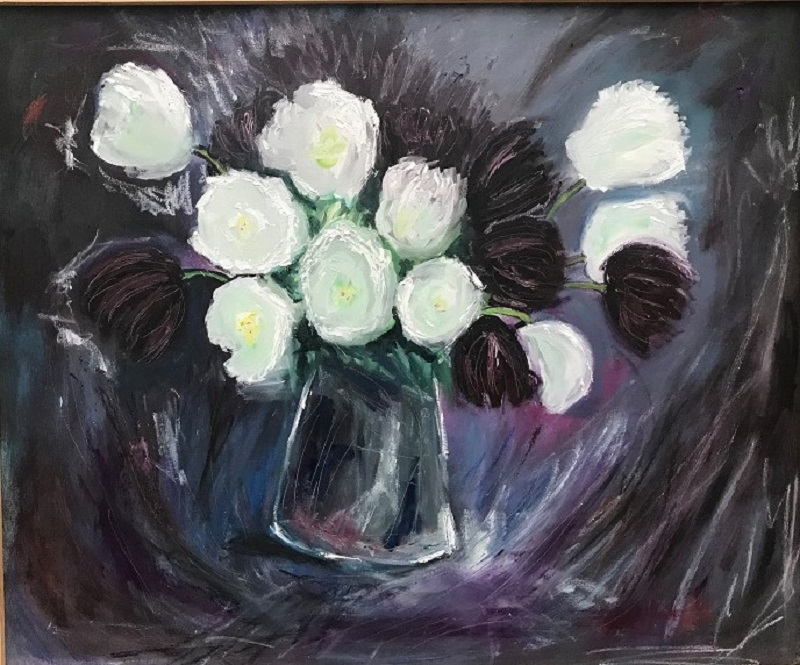 Tulips and vase after Anne Redpath